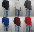 NWT Abercrombie & Fitch Men Boreas Mountain Thermal Crew Waffle Shirt Hollister