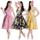 Hell Bunny Alika Tropical Hawaii Rockabilly Vintage 50s Party Prom Sun Dress