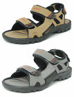 Mens Velcro Sports Sandals PDQ Summer Hiking Shoes GREY BROWN 6 7 8 9 10 11 12