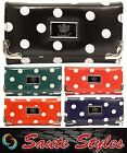 Ladies Authentic LYDC Designer Oilcloth Polka Dots Purse Women Clutch Bag Wallet