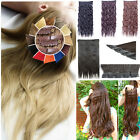 perfect shade Clip In Hair Extension 3/4 Full Head real thick Synthetic women k1