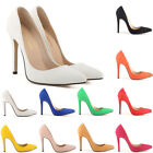 Women's High Heels Stiletto Pumps Faux Suede Shoes for Working Party Wedding