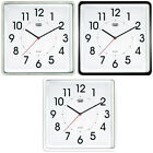 Trevi Modern Wall Clock Silent Ticking 25cm 3 Colours Available   FREE DELIVERY