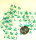 "Green Leaves baggies 1 x 1"" Apple 1010 mini ziplock bags 100 200 500 1000"