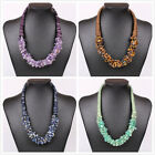 Fashion Charm Women Gem Choker Chunky Bib Statement Choker Necklace Collar Party