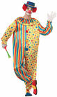 Spots the Clown Polka Dot Striped Jumpsuit Mens Adult Costume NEW Circus