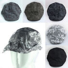 Modern Vintage Men's Skull Printed Duckbill Golf Driving Beret Cabbie Caps Hat