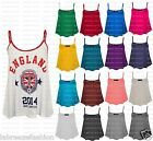 Labreeze Plain Camisole Swing Vest Sleeveless Crop Tank Top UK Plus Size 8-26