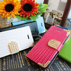 For LG Optimus L90 Color Crocodile Bling PU Leather Wallet Flip Pouch Case Cover