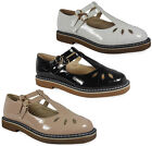 NEW WOMENS LADIES CUT-OUT BUCKLE CASUAL WORK FASHION GEEK T-BAR SHOES SIZE 3-8