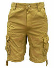 Soul Star Dyed 113 Men's Combat Cargo Pockets Casual Fashion Shorts sand 1867