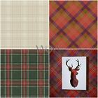 Tartan Wallpaper – Plaid Checked Designs – Red, Gold, Green, Grey, Cream, Plum