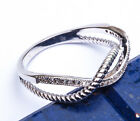 INFINITY KNOT BAND  RUSSIAN CZ .925 Sterling Silver Ring Sizes 5-9