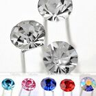 10x Round Clear Crystal Wedding Party Bridal Prom Hair Pin Clips Hair Accessory