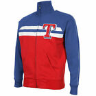 '47 Brand Texas Rangers Game Day Vintage Full Zip Track Jacket - Navy Blue/Red