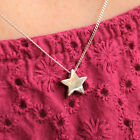 925 Silver Plain Wish Star Necklace 18K Rose Gold Vermeil Plated make a wish