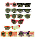*KID'S SUNGLASSES Flower+Polka Dots+Leopard+More ONE SIZE Plastic *YOU CHOOSE*