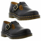 New Dr Martens  Polley  Ladies Black Leather Shoe Size UK 4 - 8