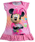 Minnie Mouse Girls Children Kids Pyjama Nightwear Nightie Dress 3-10 Year Pink