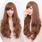 Long Brown full wigs wavy hair hand weave Cosplay Party Heat Resistant women wig