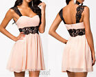 New Women Formal Lace Short Dress Prom Evening Party Cocktail Bridesmaid Wedding