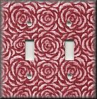 Switch Plates And Outlet Covers - Vintage Rosette - Pink Red Rose - Home Decor
