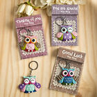 Colorful Sentimental Owl Keychain Bridal Shower Wedding Favors