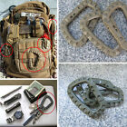D-Ring Strong Carabiner Backpack PVC Hook Snap Outdoor Tactical Tool Keychain