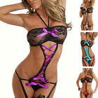CH UK Womens Sexy Lingerie Sets Erotic Intimates Garter Transparent Lace Cheap