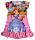 Disney Sofia The First Girls Children Kids Pyjama Nightwear Dress 3-10 Year Pink