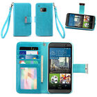 IZENGATE ID Wallet Flip Case PU Leather Cover Folio for HTC One M9