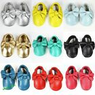 Infant Baby Bowknot Tassel Soft Sole True Leather Shoes Toddler 0-24 Months Hot