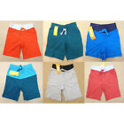 NWT Gymboree Boys Knit Shorts Many Colors and Sizes Red Blue Gray Green Orange