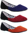 11022 Womens Ballerina Flat Sole Shoes Round Toe Slip On Ladies Ballerina Pump