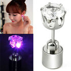 1pc Shiny Hoop Light Up Led Bling Ear Studs Earrings Accessories For Dance Party