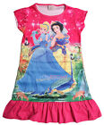 Snow White Cinderella Girls Children Kids Pyjama Nightwear Dress 3-10Yr Hot Pink