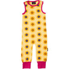 BNWT Baby Girls Maxomorra Sunflower Jersey Dungarees Playsuit NEW Organic Cotton