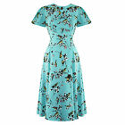 Hell Bunny Bird Print 1940s Wartime WW2 Summer Tea Party Sun Dress
