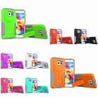 For Samsung Galaxy S6 Dual Layer Hard Soft Protective Case Cover w/ Kickstand