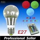 3W E27/B22 RGB LED Light Bulb Lamp 16 Color Changing 85-265V + IR Remote Control