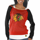 Women's Chicago Blackhawks Red/Black Holey Long Sleeve Top and Tank Top II Set