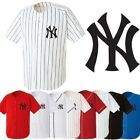 NewYork NY Yankees Baseball Stripe Open Tshirts sports wear Jersey shirt Top AB