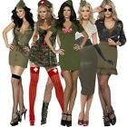 Clearance Womens Ladies Miliatary Army Soldier Fancy Dress Party Costume Outfit