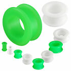 2 PAIRS double flare silicone stretcher ear gauges plugs 9HQW-SELECT SIZE 3-30MM