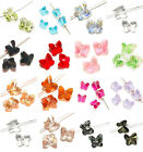 10Pcs Glass Crytal Butterfly AB Spacer Finding Beads DIY Jewelry Making 8x5mm