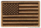 AMERICAN FLAG iron-on BIKER PATCH USA embroidered US PATRIOTIC CAMO TAN RIGHT