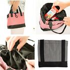 1pc Portable Outdoor Travel Picnic Striped Lunch Dinner Bag Container Box Tote W