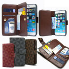 Double Leather Wallet Diary Book Flip Case Cover For iPhone Samsung Galaxy+Film