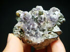 160g Incredible Purple FLUORITE Crystal with Galena Mineral Specimen