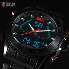 SHARK ARMY Mens 4 Colours Digital Date Day 47MM Dial Steel Wrist Watch + Box